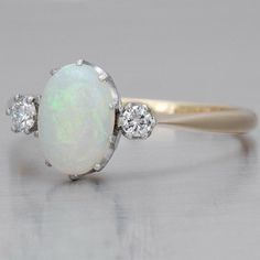 Vintage English Opal Ring - PERFECT engagement ring.