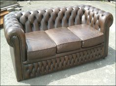 Leather sofa #upholstery