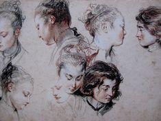 Sketches by Jean Antoine Watteau