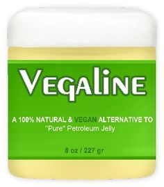 Vegaline 100% Natural & Vegan Alternative to Petroleum Jelly. Fragrance-free. Contains coconut oil and ricebran wax. Gluten-free, vegan, cruelty-free. Support products like this, and support The 1:1 Movement, http://www.1to1movement.org/contribute/