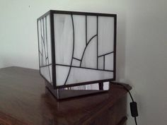 Genuine stained glass Tiffany Kube white