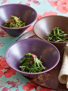 【ELLE a table】小松菜の和えもの 3種レシピ エル・オンライン