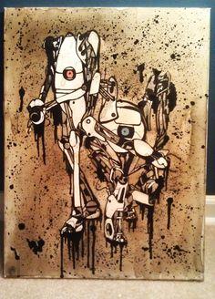 Portal 2 Coffee Painting (2012)