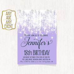 18th birthday invitation Luxury invitation Birthday by CoolStudio