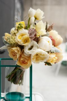 A bouquet like none other we've ever seen before! More on SMP: http://www.StyleMePretty.com/2014/02/28/industrial-chic-wedding-inspiration-wiup/ Photography: Ariel Cordero | Floral Design: Hawthorn Flower Studio