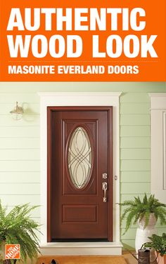 Harness the beauty of nature with a Masonite Everland wood-look front door.  This innovative new design combines the durability of real wood with the beauty of fiberglass, giving you a low-maintenance and high-performing entry door you can count on. Each door is hand-finished to up your home's curb appeal, giving it a unique style. Click to shop Masonite exterior doors.