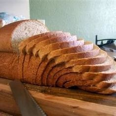 This bread recipe for your bread machine is very easy-to-follow to the point of being foolproof, delivering a soft bread with a flaky crust.  Favorite bread recipe using whole wheat flour.