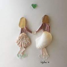 There's nothing like the mother + daughter bond #seaglass #seaglassart #motherdaughter