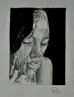 Created this piece of art. #bnw #portrait #pencilwork #myart