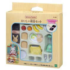 Sylvanian Families Breakfast set which will be Released on Feb, Mixer and Toaster included this set are fantastic. Our most important product is Sylvanian Families. Family Cake, Family Set, Sylvania Families, Calico Critters Families, Baby Doll Nursery, Barbie Doll Accessories, Breakfast Set, Doll Food, Mini Things