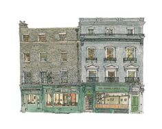 "Architectural Drawing ""The Copper Kettle, Cambridge, UK"" by Paul Margiotta"