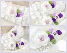 Bridal Sash and Clutch Sash and Wristlet Set in White by SolBijou, $195.00