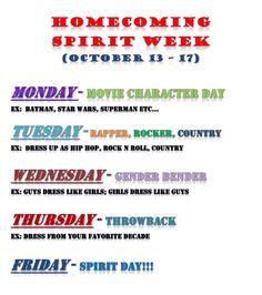 cb9504181dc spirit week themes - Google Search More Spirt Week Ideas