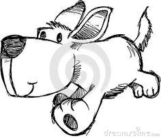 Эскизные собак векторной иллюстрации