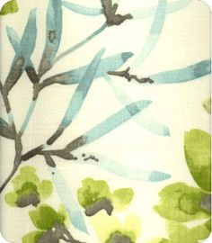 How amazingly lyrical is this fabric. It whispers spring to me and bedroom drapes. :)
