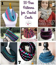 20 Free Patterns for Crochet Cowls from some of my favorite designers!