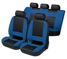 Autositzbezug Herold schwarz/blau