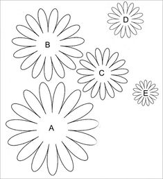 felt flower template You can create a lovely flower on paper and include it on the gift that you would like to send to your significant other. A flower template therefore becomes Free Paper Flower Templates, Felt Flower Template, Sunflower Template, Felt Flower Tutorial, Leaf Template, Free Printable Flower Templates, Bow Tutorial, Rolled Paper Flowers, Paper Flowers Craft