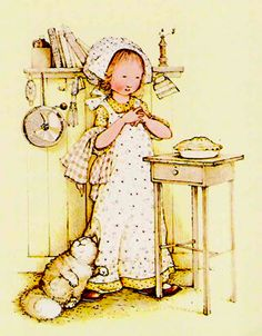 Holly Hobbie Kitchen with Big, Fluffy Cat