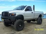 jacked up trucks... :D