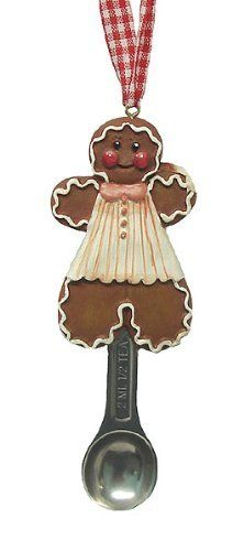 "Candy Fantasy Gingerbread Girl Measuring Spoon Christmas Ornament by North Star. $6.99. Gingerbread Girl Measuring Spoon OrnamentFrom the Candy Fantasy Collection, Item #5266736Features a 1/2 teaspoon measuring spoonMaterials: Resin & MetalDimensions: 1.75""L X 5""HComes ready-to-hang with a red & white gingham cord"