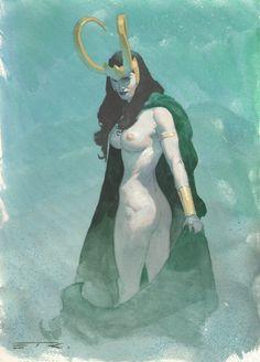 Lady Loki by Esad Ribic *