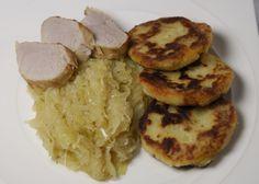 Romige zuurkool met aardappel parmezaan koekjes en varkenshaas