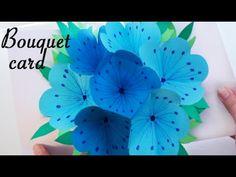 Bouquet pop-up card - DIY - YouTube