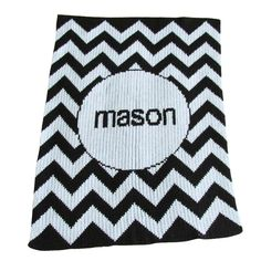 Personalized Chevron Stroller Blanket - great baby gift!