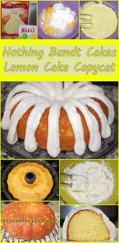 Nothing Bundt Cakes Lemon Cake Copycat - This recipe is a copycat of a chain bakery's delicious cake! Lemon cake mix, lemon pudding mix, s - Lemon Pudding Cake, Lemon Bundt Cake, Lemon Cake Mixes, Nothing Bundt Lemon Cake Recipe, Recipe For Lemon Cake, Lemon Cake Recipes, Cake Mix Pound Cake, Lemon Sour Cream Cake, Cream Cheeses