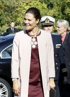 Princess Victoria attended the inauguration of an exhibition on Pompeii in a museum in Stockholm.