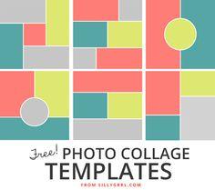 XOSarah.com // Six FREE photo collage templates #design #blogging