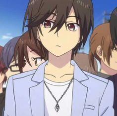 Anime Couples Drawings, Cute Anime Couples, Hot Anime Boy, Anime Guys, Anime Meme, Animé Charlotte, Manga T, Gurren Lagann, Handsome Anime