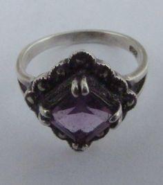 Vintage Amethyst Ring  Sterling Silver .925 by PureJewelryElegance