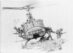 La Pintura y la Guerra. Sursumkorda in memoriam Military Drawings, Military Tattoos, Art Drawings Sketches, Pencil Drawings, Military Art, Military Soldier, Anime Military, Aviation Art, Vietnam War