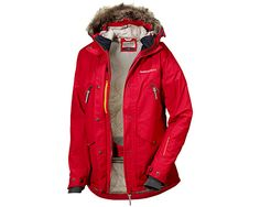Didriksons Ronja womens jacket in Red, a lively way to arm up Autumn and in stock now. #winteriscoming