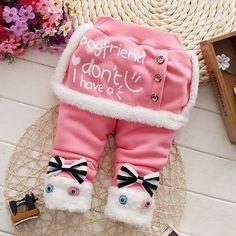 ... Обувь для девочек Мотобрюки Новинка 2017 года Повседневное для  маленьких девочек одежда толстые теплые брюки младенческой Костюмы для 0  2year купить ... ae03aa7684c9c