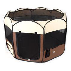 Ware Manufacturing Medium Deluxe Pop Up Dog Playpen - Dog Store Dog Kennels For Sale, Indestructable Dog Bed, Large Dog Crate, Large Dogs, Dog Playpen, Cool Dog Houses, Dog Cages, Dog Car Seats, Up Dog