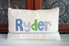 Baby Boy Blankets, Baby Pillows, Kids Pillows, Baby Shower Gifts For Boys, Baby Boy Gifts, Baby Boy Shower, Applique Letters, Applique Pillows, Personalized Pillows