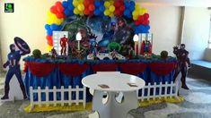 Os Vingadores -  Decoração de festa com tema para aniversário infantil