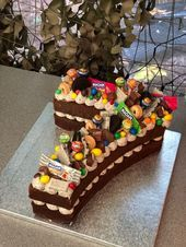 Most recent Snap Shots fruit cake kids Suggestions - yummy cake recipes Birthday Cake Kids Boys, Number Birthday Cakes, Birthday Cakes For Women, Number Cakes, Chocolate Birthday Cake Kids, Number Number, 7 Cake, No Bake Cake, Food Cakes