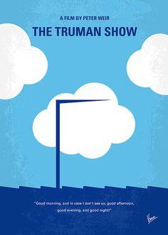 No234 My Truman Show Minimal Movie Poster by Chungkong Art