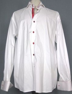 5ce2f8ec Authentic AXXESS Adult Large White & Red Striped Long Sleeve Shirt (L  Christmas)