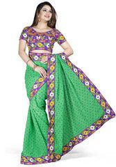 Green Color Chiffon Butti Function & Party Wear Sarees : Nairiti Collection  YF-41319