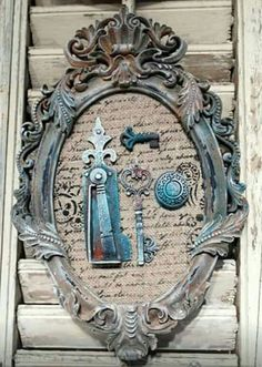 How To Make The Diy Picture Frames That Look Stunning? Picture Frame Inspiration, Unique Picture Frames, Picture Frame Crafts, Diy Antique Books, Furniture Painting Techniques, Shabby Chic Antiques, Empty Frames, Diy Frame, Recycled Crafts