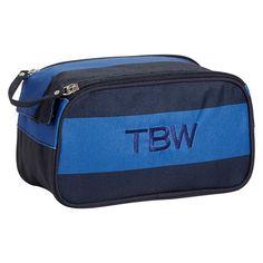 Getaway Blue/Navy RugbyToiletry Bag | PBteen