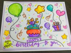 Cute Doodle Art, Cute Doodles, Happy Birthday Brother, Happy Birthday Cards, Drawing Pictures For Kids, 3rd Grade Art Lesson, Diy And Crafts, Paper Crafts, Love Frames