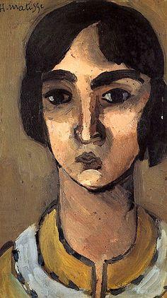 "bofransson: "" Henri Matisse - Woman with Dark Hair , 1918 """