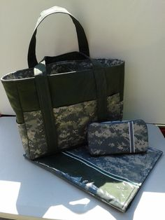 Army ACU Diaper Bag Set by SweetPeaKidsStore on Etsy, $85.00 SO cute for baby buchanan