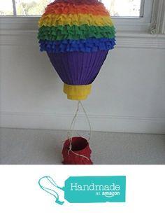 Hot Air Balloon Rainbow Handmade Party Pinata from Pinata Paradise http://www.amazon.com/dp/B015END1DU/ref=hnd_sw_r_pi_dp_qj1sxb1J0F16X #handmadeatamazon